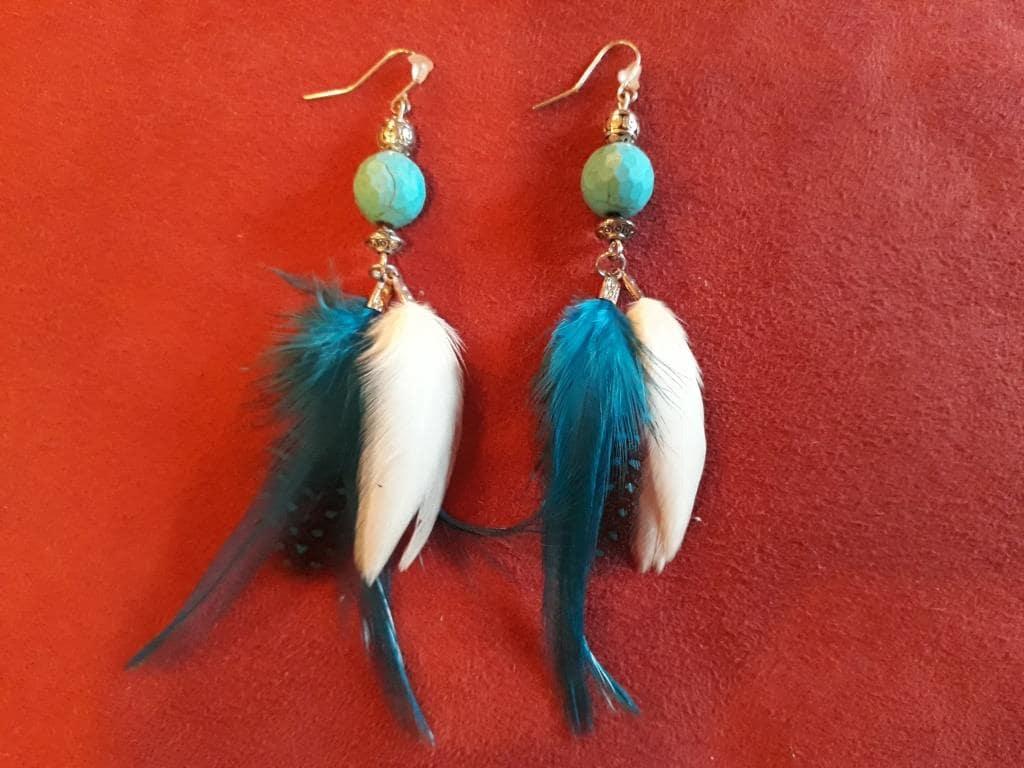 shamanic earrings feathers