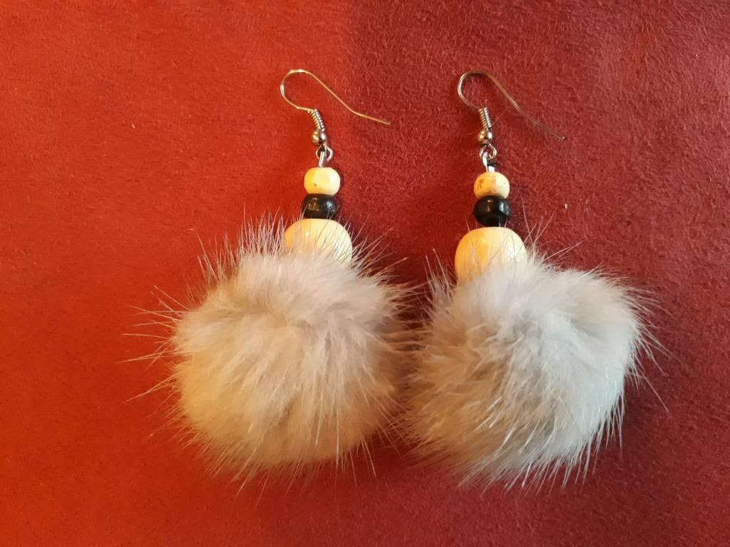 shamanic magic earrings white