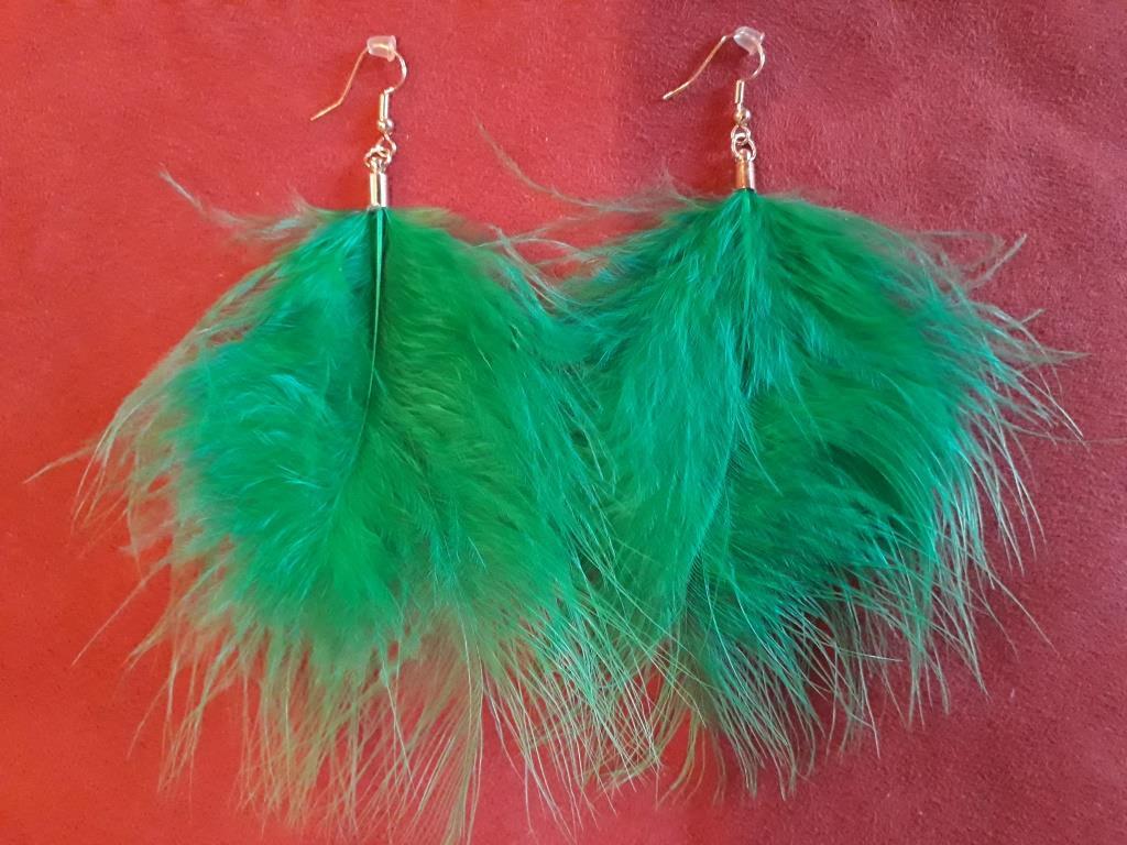 shamanic earrings green