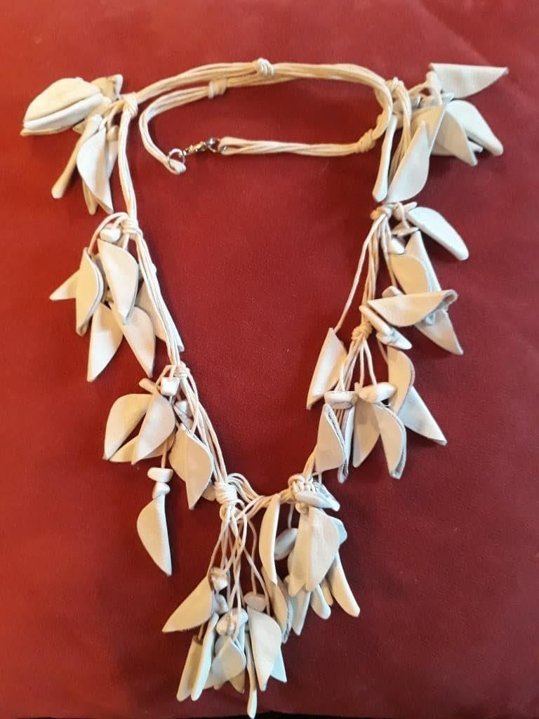 shamanic necklace white